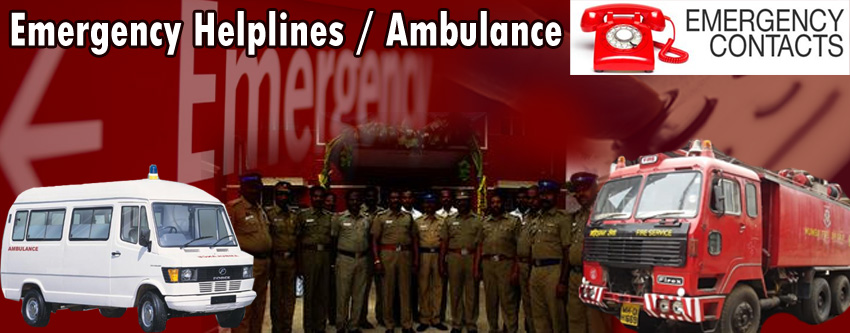 Emergency Helplines / Ambulance